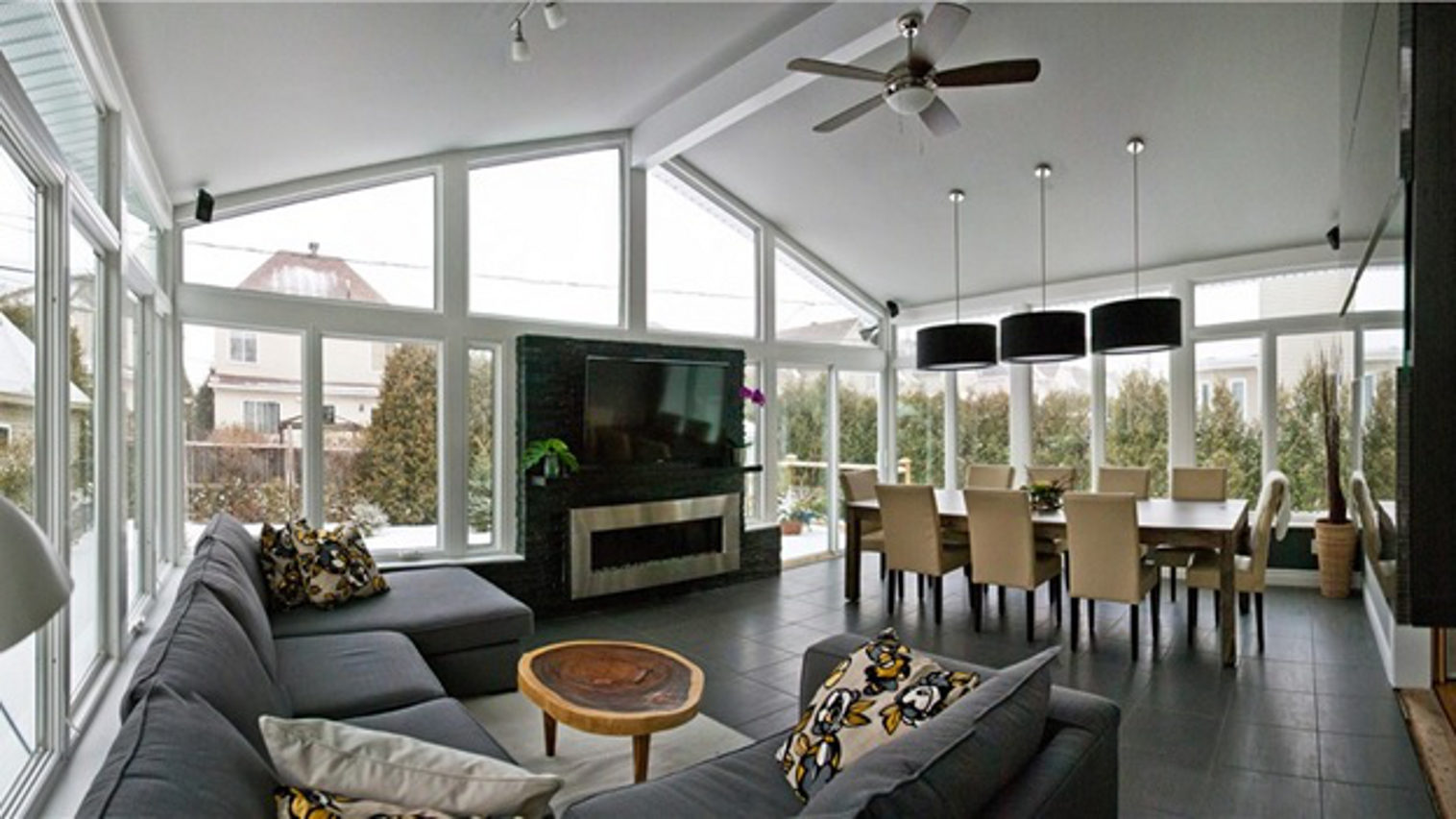 Cathedral design sunroom